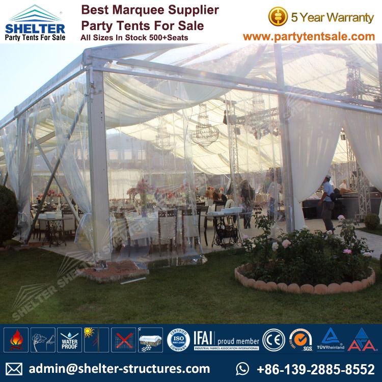 Clear Tents Host 500+ Guests & Clear Tents Host 500+ Guests - Party Tents Products Wedding Tents