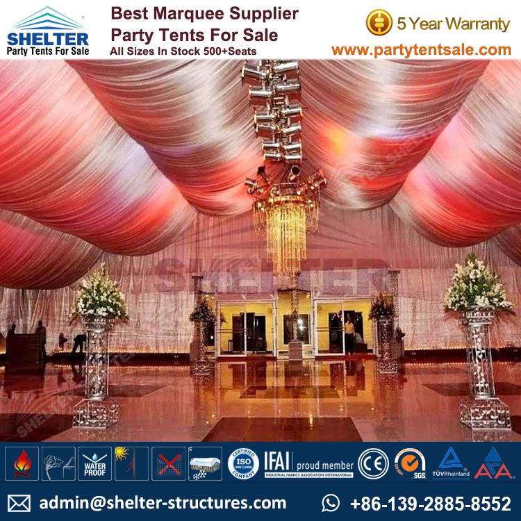 Luxury Wedding Tent With Decorations