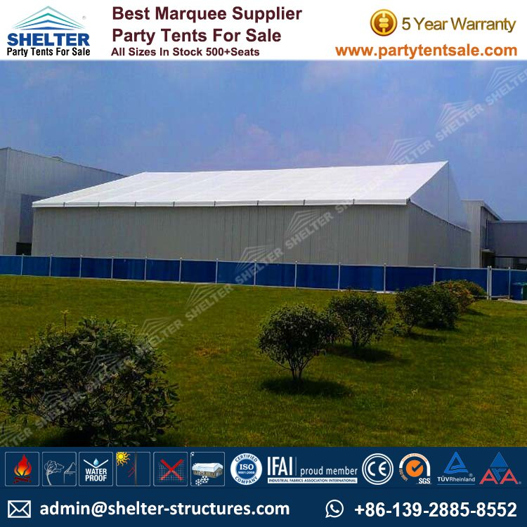 Large Tent-Warehouse Tents-Outdoor Storage Venue-Shelter Tent-11 & Temporary Warehouse Structures - Party Tents for Sale
