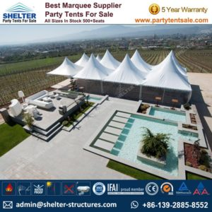 SHELTER Gazebo Tent - Event Canopy - Backyard Party Marquee - Wedding Hall -4