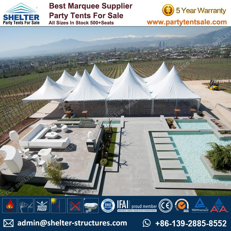 SHELTER Gazebo Tent - Event Canopy - Backyard Party Marquee - Wedding Hall -5