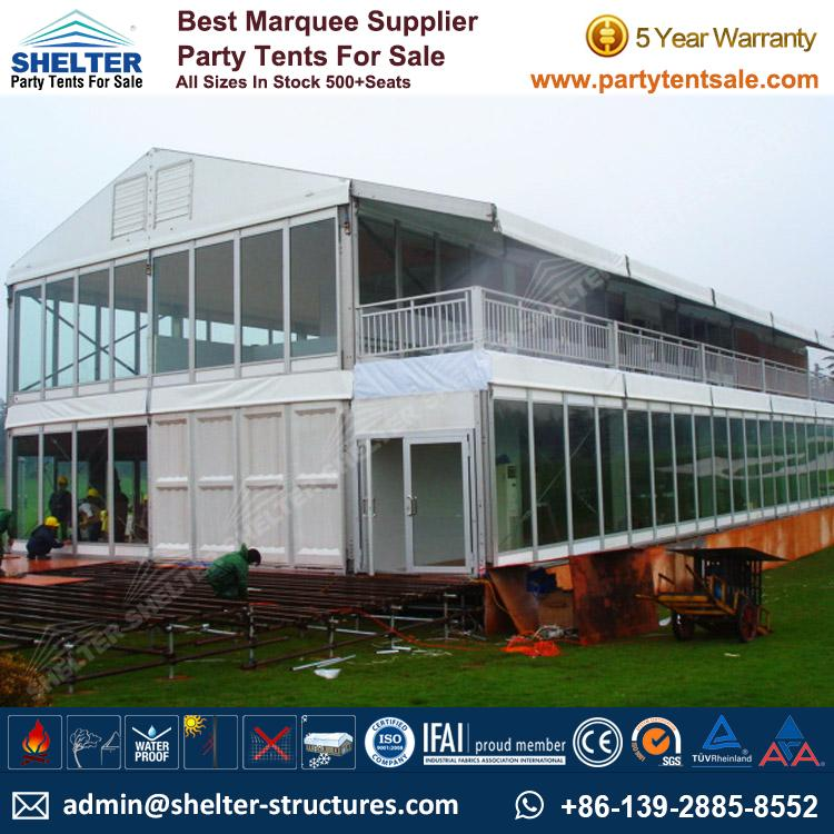 Double-Decker-Tent-Two-Story-Tents-Commercial-Tents- & Double Decker Tent - Event Marquee - Party Tents for Sale
