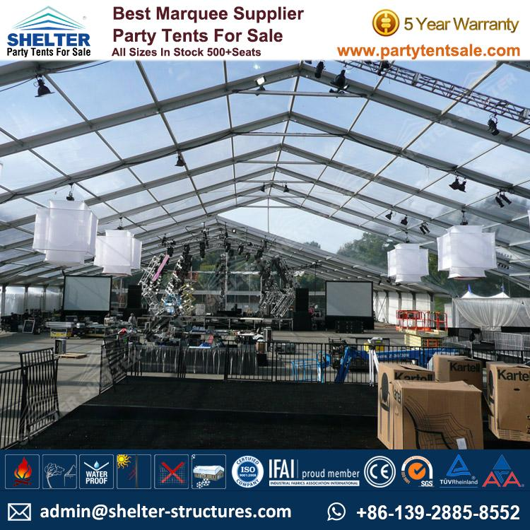 Clear Top Tent for Outdoor Music Festival & Clear Top Tent - Wedding Marquee - Party Tents Sale