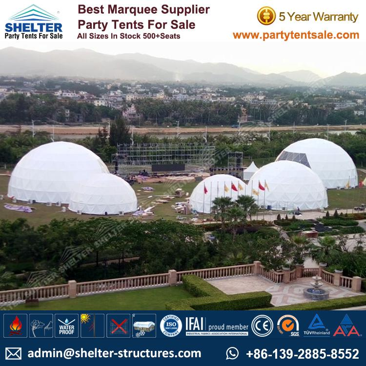 15 / 20 / 25m Geodesic Dome Tent for Sale in UK & Dia. 15 / 20 / 25m Geodesic Dome Tent for Sale-Shelter Structures