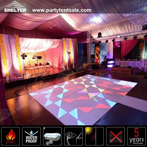 Ceremony And Reception Under Tent: Luxury Wedding Reception Tent