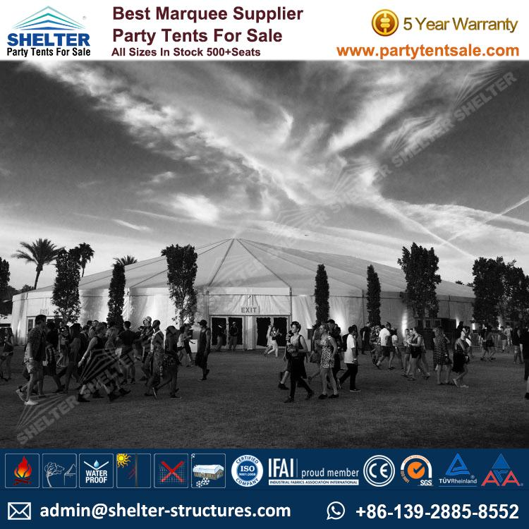SHELTER Big Party Tent Yuma Tent - Oval Structures - Party Marquee - Outdoor Music Festival -2