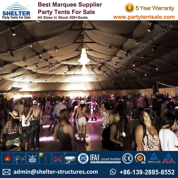 SHELTER Big Party Tent Yuma Tent - Oval Structures - Party Marquee - Outdoor Music Festival -3