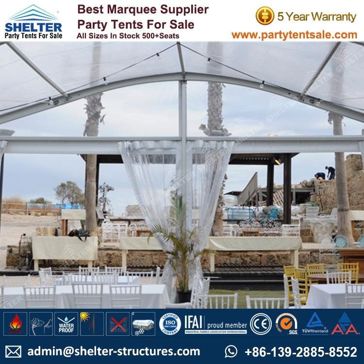 Tent for 100 People - Party Tent For sale-100-500 Seater - Party Gazebo Tents Clear Marquee - Tranparent Marquee - Arch Tent -Shelter Tent (2)