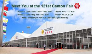 121st Canton Fair Guangzhou 2017 - Shelter Party Tent Sale