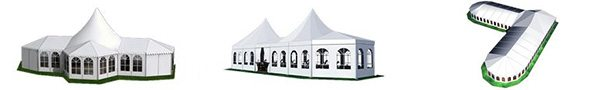 High Peak Mixed Tent - Mixed Party Tent - Clear Span Structures for Sale - Shelter Party Tent Sale