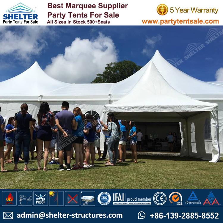 High Peak Mixed Tent - Shelter Party Tent Sale - Multi Sided Tent - Party Marquee - Reception Tent - Wedding Marquee - Outdoor Marquee - Party Tent for Sale (10)