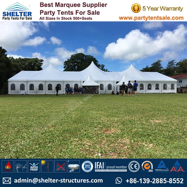 500 Seats PVC High Peak Mixed Tent for Outdoor Wedding : tents sizes - memphite.com