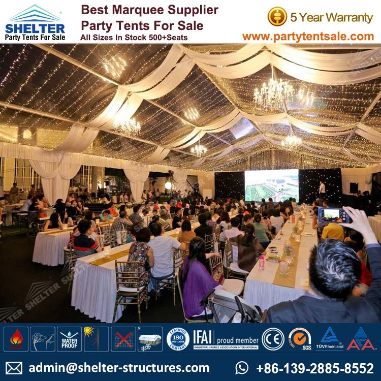 Shelter Party Tent Sale - Portable Event Tent - Event Marquee - Event Tent - Commercial & Portable Event Tent 15x20m for Corporate Celebration - Party Tent Sale