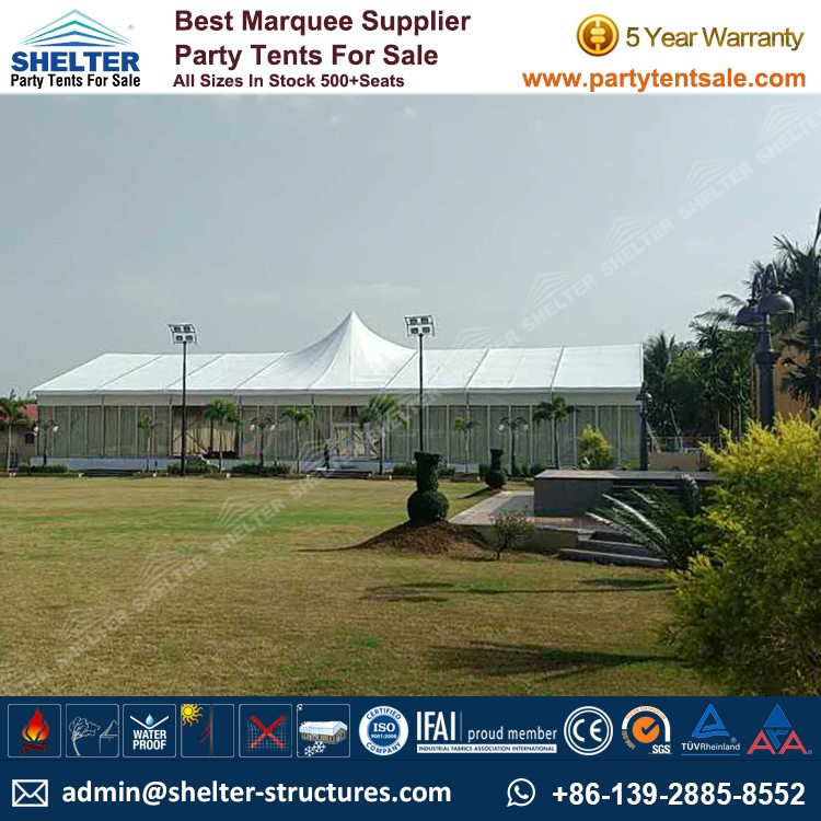 Modular Tent with A Single Peak for Outside Party & 800 sq.meters Modular Tent for Outside Party - Shelter Party Tent Sale
