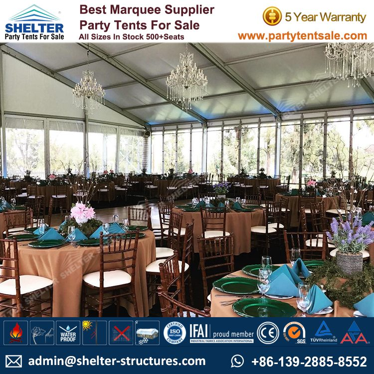 Shelter Party Tent Sale - Aluminium Marquee - Event Marquee with Glass Walls - Event Tent Sale - Temporary Event Structure (3)