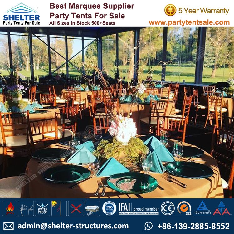 Shelter Party Tent Sale - Aluminium Marquee - Event Marquee with Glass Walls - Event Tent Sale - Temporary Event Structure (5)