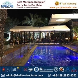 Small Marquee Tent - Shelter Party Tent Sale - Event Marquee with Glass Sidewalls and Cassette Floor - Event Tent Sale - Temporary Event Structure (1)