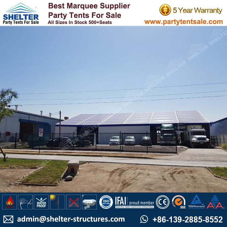 Logistics Warehouse Solution with 25x30m Frame Marquee  - Shelter Party Tent Sale - Warehouse Tent - Storage Tent - Tent for Storage - Temporary Structure - 25x30 Warehouse Structure (3)