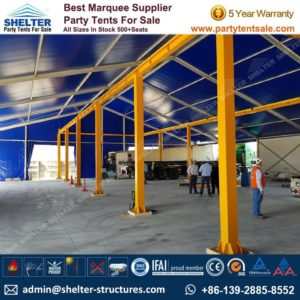 Logistics Warehouse Solution with 25x30m Frame Marquee - Shelter Party Tent Sale - Warehouse Tent - Storage Tent - Tent for Storage - Temporary Structure - 25x30 Warehouse Structure (4)