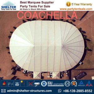 SHELTER Big Party Tent Yuma Tent - Oval Structures - Party Marquee - Outdoor Music Festival -1